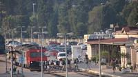 Backpackers arriving at Split