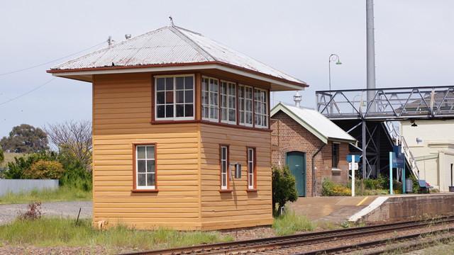 Repainted signal box at Yass Junction