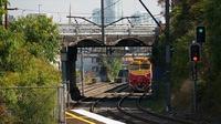 N Class through Hawksburn Station