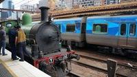 Steamrail's Y112 at Flinders St