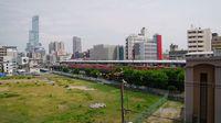 Shin-Imamiya Station from balcony