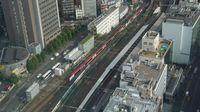 N'EX passes Shinjuku