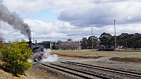 6029 departs Canberra Station