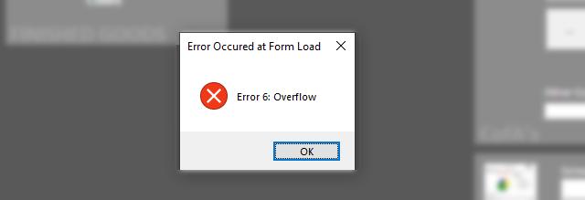 Error 6 Overflow