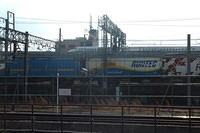 Freight passing Kyoto