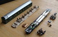 Twilight Express end-car disassembled