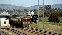 Northbound Steel passing Yass