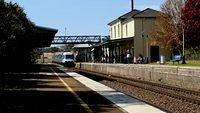 Southbound XPT enters Yass