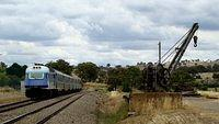 XPT leaves Gunning Station_001