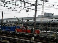 DE10 organising Blue Train next to ShinOsaka