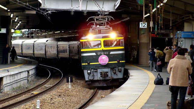 The Twilight Express pulls into ShinOsaka