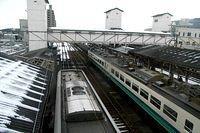 Thunderbird paused at Toyama Station