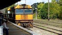 Northbound freight through Moss Vale