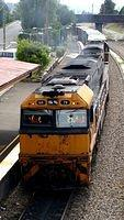 Southbound freight through Moss Vale