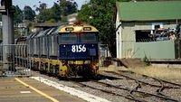 Grain enters Goulburn Station