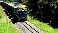 Southbound freight somewhere after Coffs