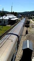 Westbound XPT heads into Lithgow Station