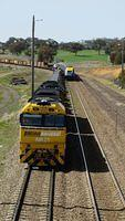 Melbourne XPT enters Yass Junction