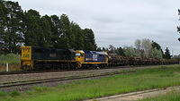 X46 and 8182 shunting Oil in Fyshwick