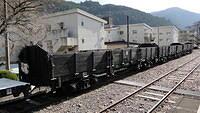 Oigawa Dam Railway work trucks