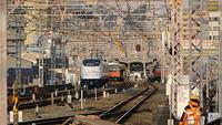 Ltd. Exp. Haruka approaching Nishikujo Station