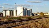 Oil tanks in Fyshwick