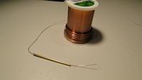Feeding copper wire into poles