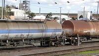 Derailed tankers at Tottenham