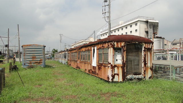 Old rollingstock at Hina