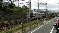 Approaching Nankai Mikkaichicho Station
