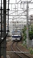 EF210 approaching Nishiakashi Station