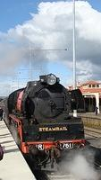 R761 on return Steamrail train at Seymour