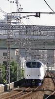 Haruka approaching Noda Station
