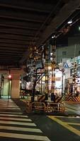Level crossing near Umeda Yards