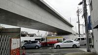Bridge upgrade north of Yodogawa