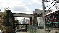 JR line over Hankyu Awaji Station