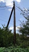 Power pole next to JR line near Awaji Station