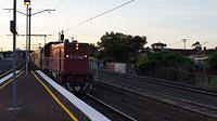 P17 on V/Line past Middle Footscray