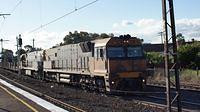 NR88+NR36 on steel passing Middle Footscray