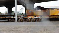 Damaged steel wagons