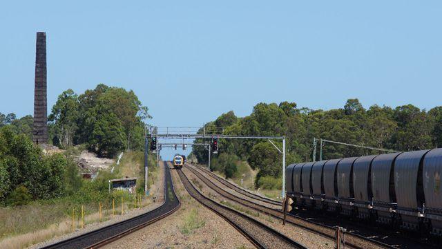 Coal passing Metford