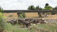 Jerrabomberra Ck bridge flood debris