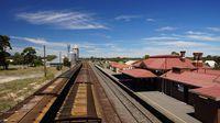 Grain wagons at Dimboola