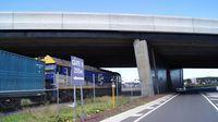 G515 passing under Footscray Road