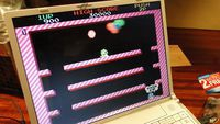 Playing Bubble Bobble