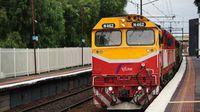 N Class loco passing Newport