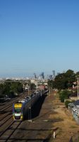 V/Locity approaching West Footscray