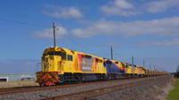 Grain train transfer at McIntyre Loop