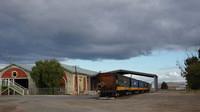 PacNat depot/wagons next to Echuca Station