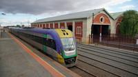 V/Locity departing Echuca Station
